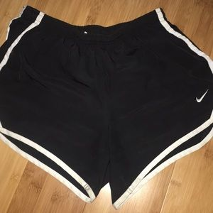 Nike Shorts - black with white rimed nike shorts